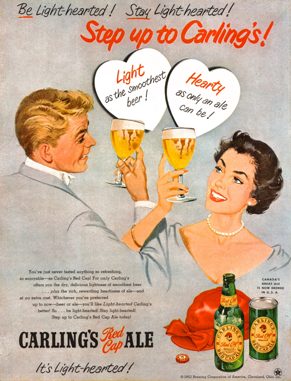Carling's Red Cap Ale - 1952