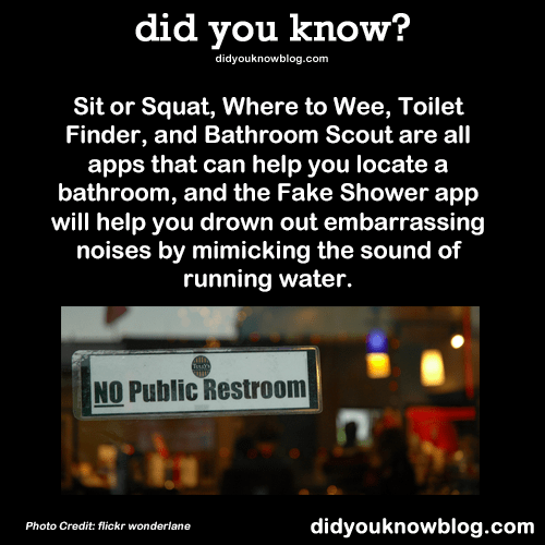 did you know  Sit or Squat Where to Wee Toilet Finder
