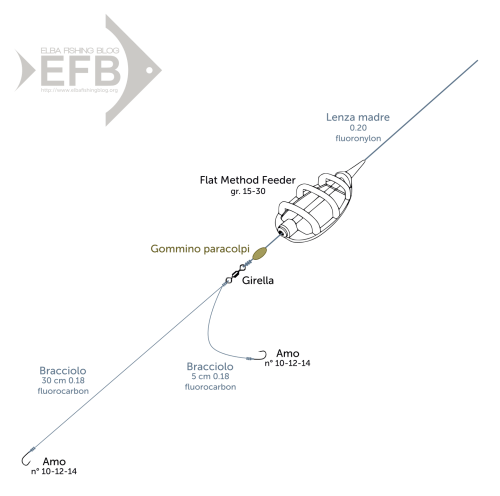 Hair Rig Diagram Pesca A Feeder In Mare Quarta Parte Elba Fishing Blog