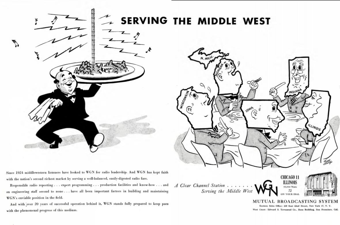 WGN - Chicago, Illinois U.S.A. - 1946
