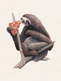 John Stortz Pizza Sloth Heaven Good Branch And Hot