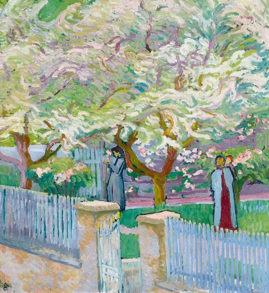 "peira: ""Giovanni Giacometti: Garten im Fühling (1911) """