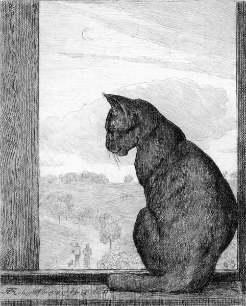 Hans Thoma, The Cat