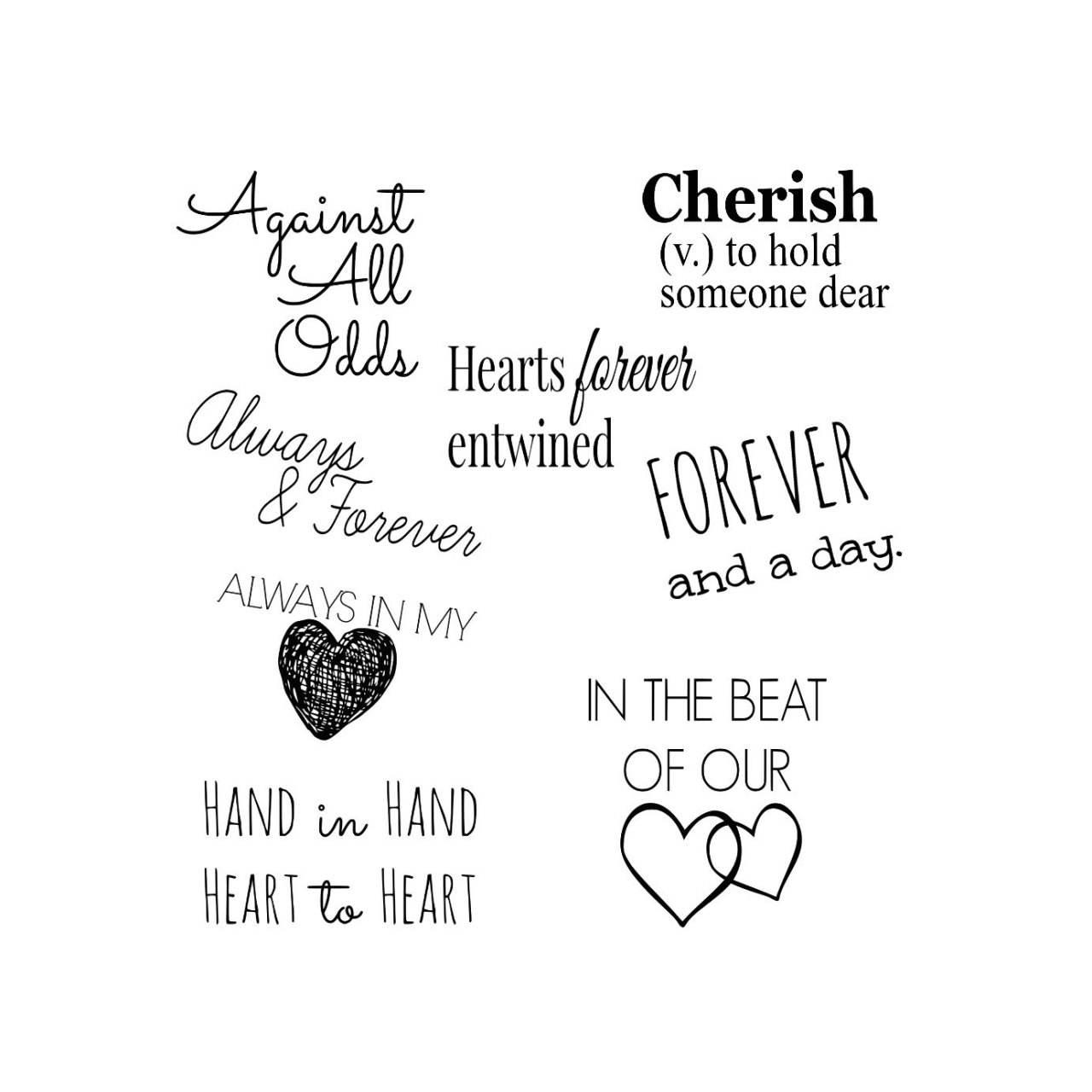 Wedding Marriage Love Word Art Collection 8 Quotes