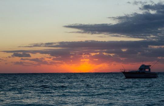 Sunset in Tulum