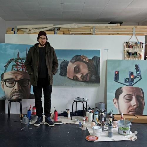 crossconnectmag:The Artist and Muralist: Onur Dinc Based in Solothurn, Switzerland though with Turkish roots, the Onur is part of the photorealist scene. He mostly paints using acrylic rollers and with the help of brushes. An experimental use of UV-light sensitive paints or solvents has produced astonishing effects in his large-scale works. Onur grew up in Zuchwil in Switzerland's Solothurn canton. After leaving school, he completed training as a painter, followed by an apprenticeship as a theater painter in Solothurn. Onur then trained as a graphic artist at the advertising agency in Basel, going on to work in the profession for a year in Bern. In 2007 and 2008, he returned to the theater, this time in Lucerne. Since 2008 he has worked as an independent painter and muralist. Follow him on Instagram and Facebook.  View similar posts   selected by Margaret