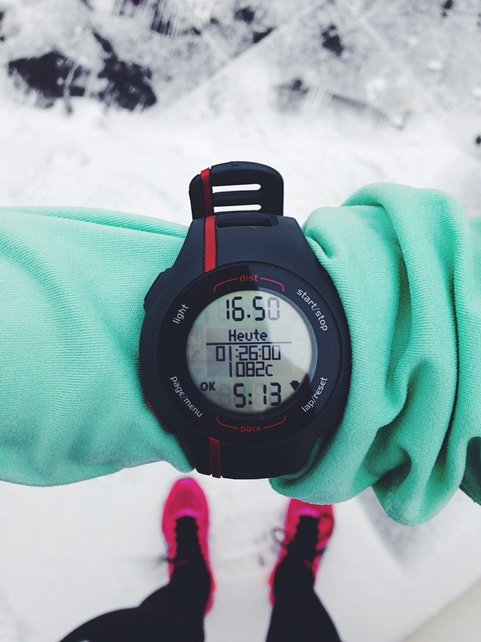 "aspoonfuloflissi: ""I did my long run in the SNOW today! It was wayy slower than my usual pace but today I didn't care about pace at all. Slow runs are GOOD! I just wanted to fully enjoy this run and that I definitely did :) """