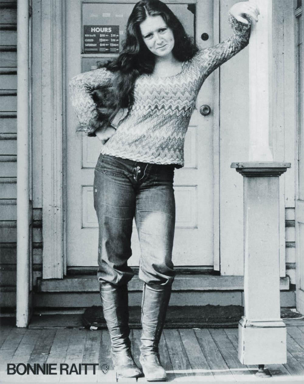 Bonnie Raitt 1971 Warner Bros Record Store Poster For Her  # Pose Tele En Boi