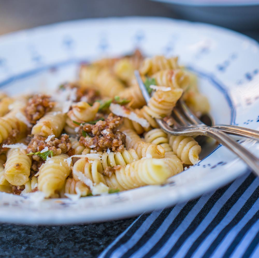 pasta with bolognese