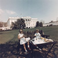 At its best: The Kennedy children enjoying a picnic in the ...
