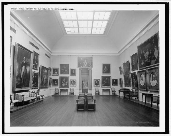 Inside Museum of Fine Arts Boston