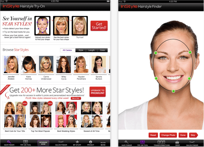 The Brand New InStyle Hair Try On IPad App Is The InStyle