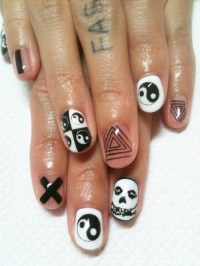 hipster nails on Tumblr