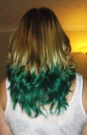 turquoise dip dye