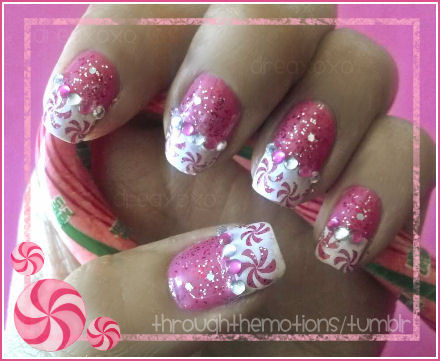 peppermint nails