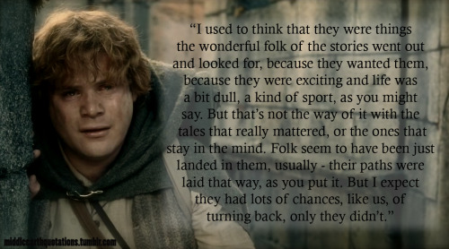Samwise Gamgee Quote Wallpaper Middle Earth Quotes