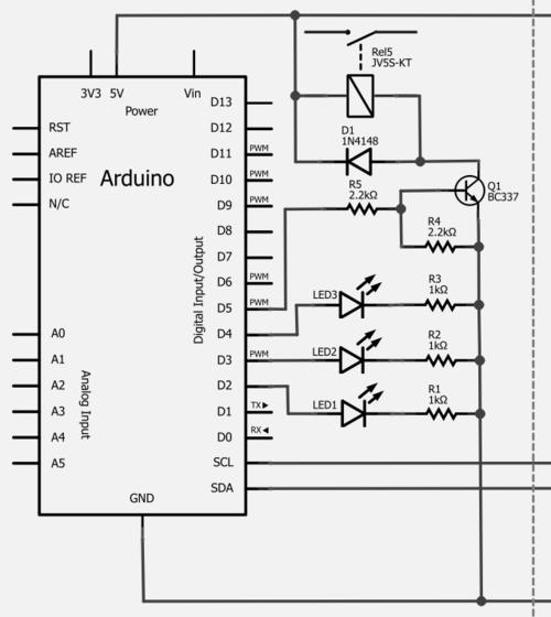 Binerry, Raspberry Pi with I2C-Arduino-Slave