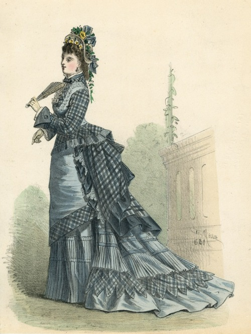 April fashion, 1875 France, L'Élégance Parisienne