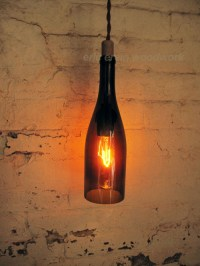 Wine Bottle Lamp | Tumblr