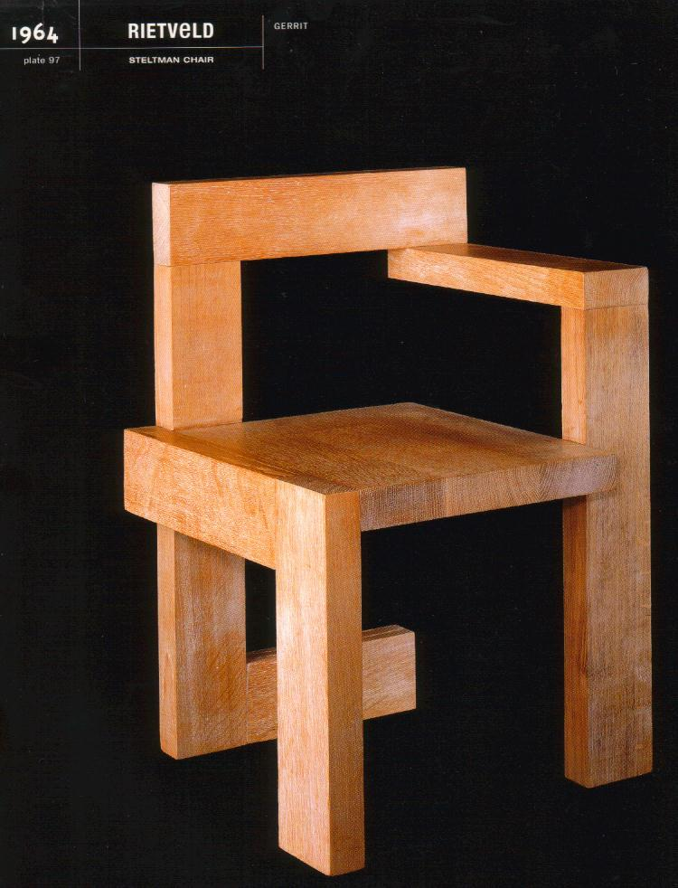 gerrit thomas rietveld chair ethan allen dining chairs with arms design is fine. history mine. — steltman chair, 1964
