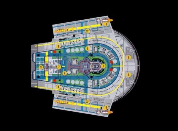 Starfleet Ships Defiant Deck Plans From Star Trek Deep