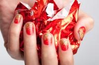 glitter nails on Tumblr
