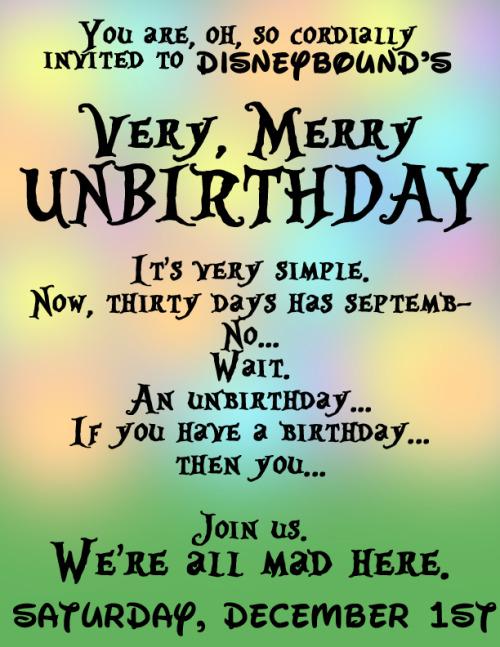 Unbirthday On Tumblr