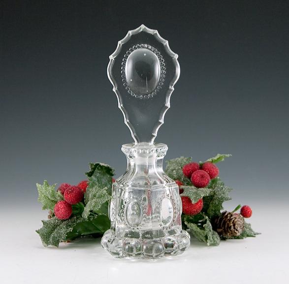 Beautiful Antique Glass Antique Czech Crystal Medallion