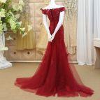 Burgundy Mermaid Prom Dress