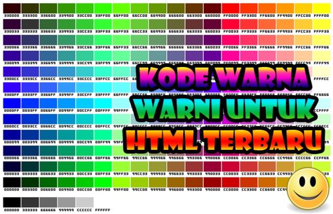 Kode Warna Warni Indah Untuk HTML Terbaru