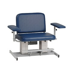 Blood Draw Chair Silver Banquet Covers Power Medical Furniture Bank Supplies