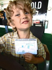 Odin with his drawing of the ferry