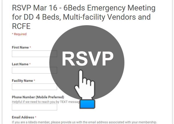 RSVP Mar 16 - 6Beds Emergency Meeting