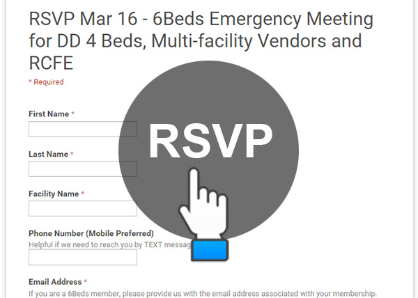 RSVP Mar 16 - 6Beds Emergency Meeting