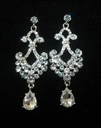 Bridal Chandelier Rhinestone Earrings