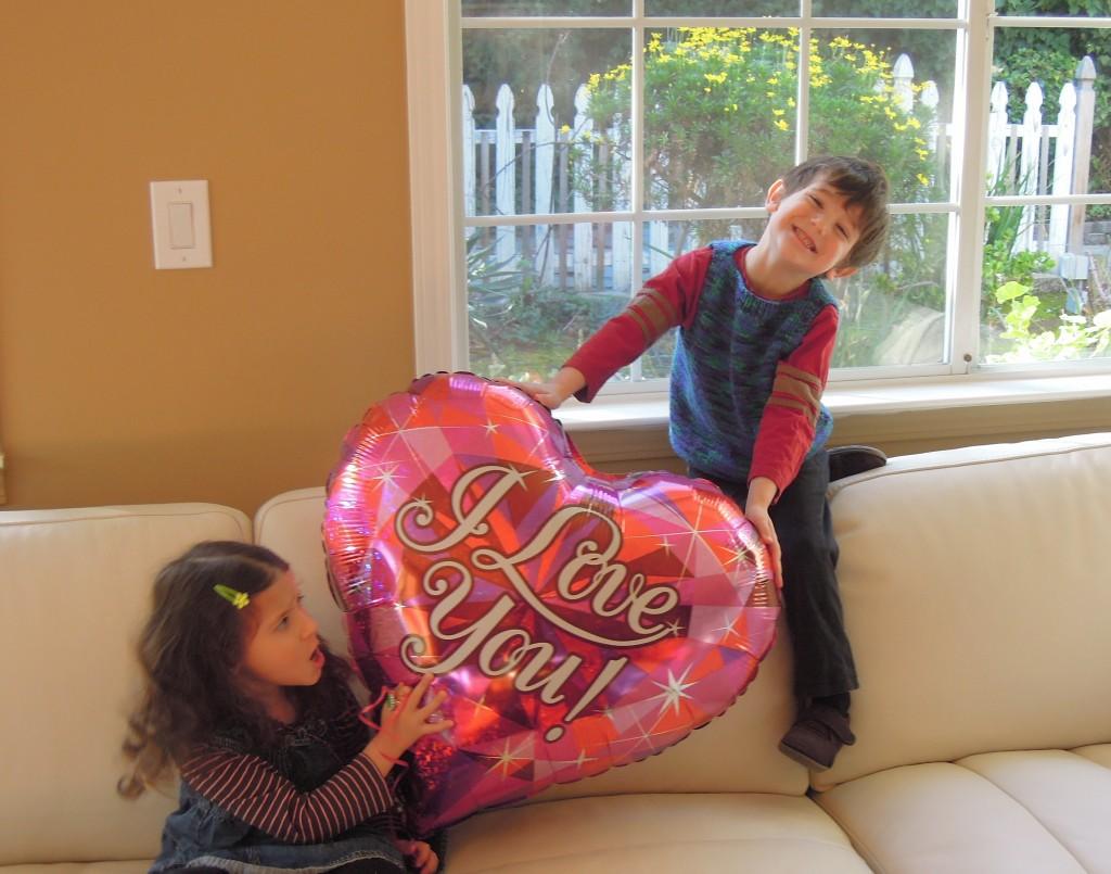 Valentine baloon