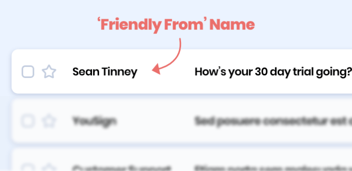 Friendly From email address