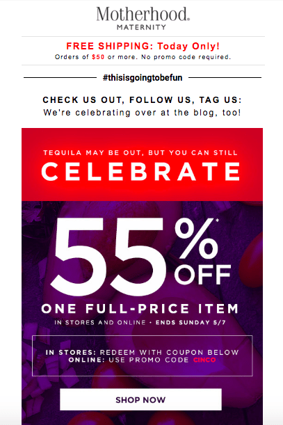 spring sale email