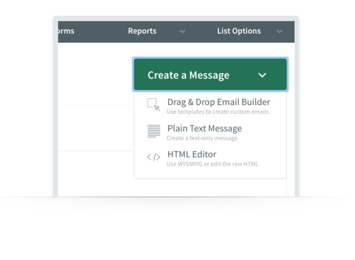 aweber drag and drop email builder