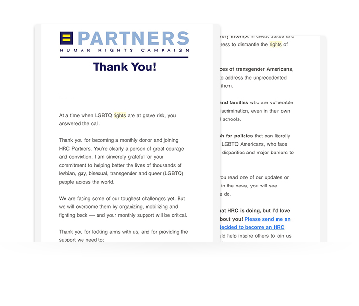 nonprofit email newsletter example