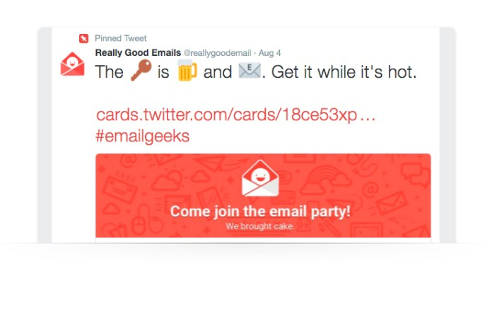 twitter ad for email sign ups