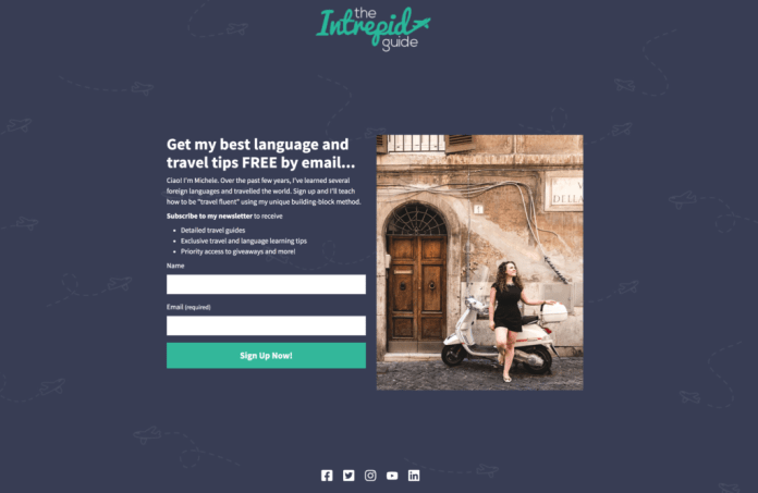 The Intrepid Guide landing page