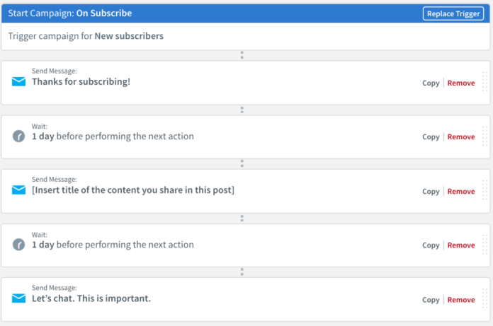 Welcome series workflow