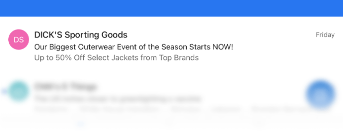 Example subject line example subtly using all caps for a call out