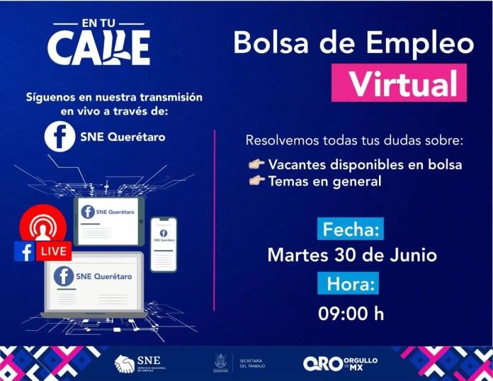 Este 30 de junio será la 9ª Bolsa de Empleo Virtual para Técnicos y Profesionistas, ofertarán 396 plazas formales