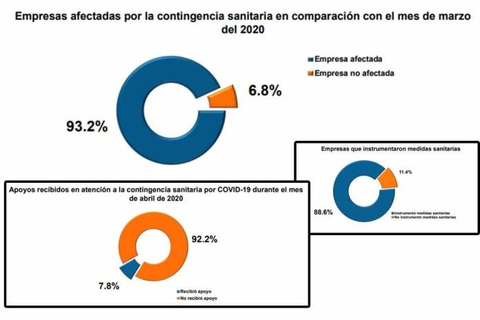 93.2 % de las empresas registró al menos un tipo de afectación debido a la contingencia sanitaria por Covid-19