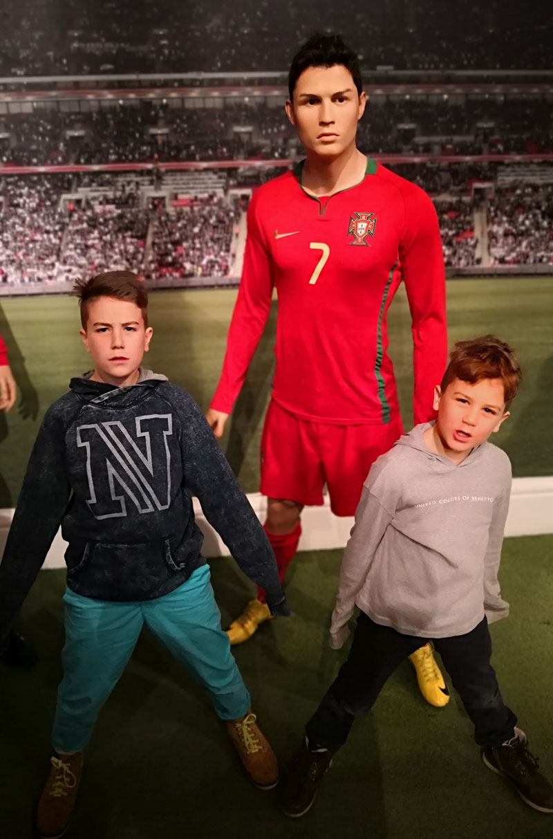Bei Madame Tussauds in London - CR7