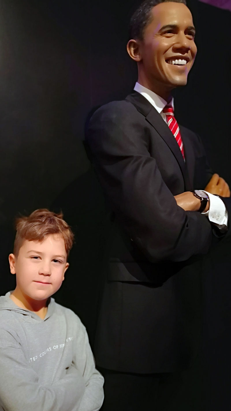 Bei Madame Tussauds in London - Obama