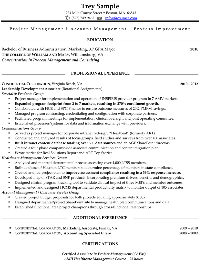 Examples Of One Page Resumes Examples Of Resumes