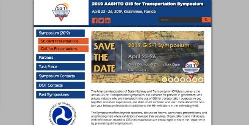AASHTO GIS for Transportation Symposium